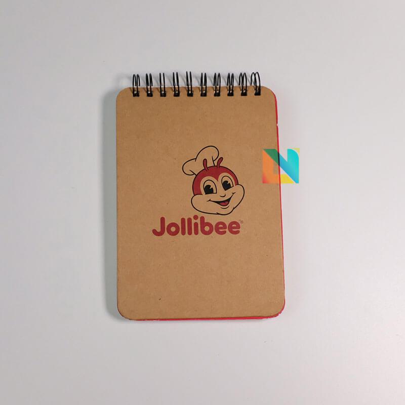 In sổ tay gáy loxo Jollibee